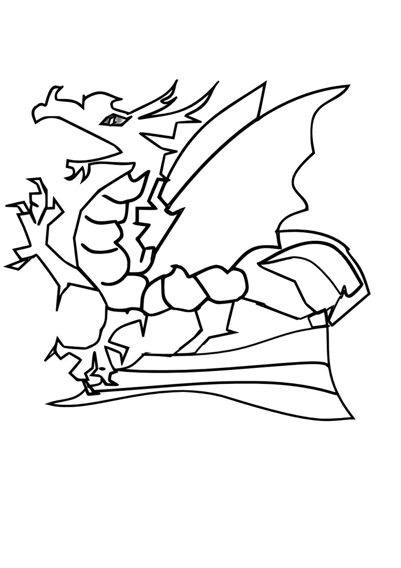 Baby Dragon Coloring Pages 001