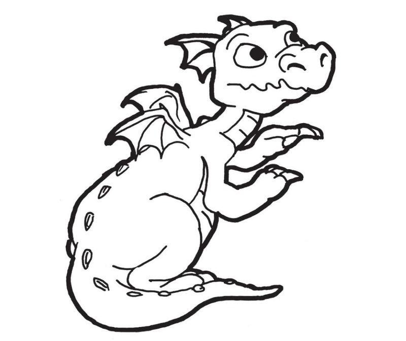 Baby Dragon Coloring Pages For Boys 1