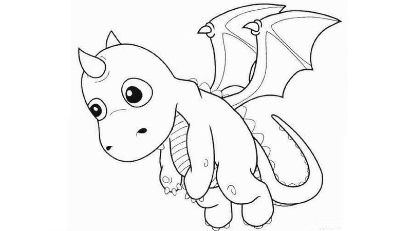 Baby Dragon Coloring Pages Free