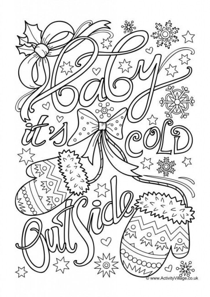 Baby Its Cold Outside Winter Coloring Page