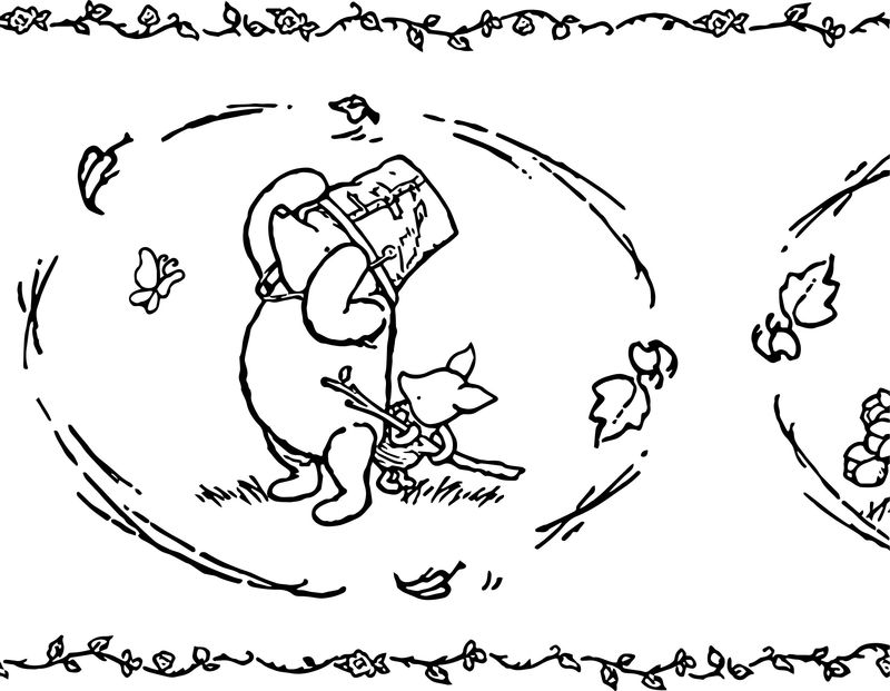 Baby Piglet Winnie The Pooh Wind Coloring Page