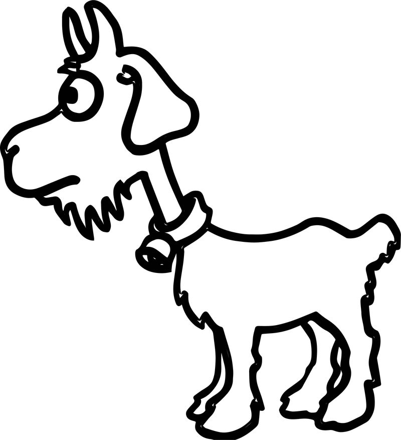 Baby Sheep Farm Animal Coloring Page