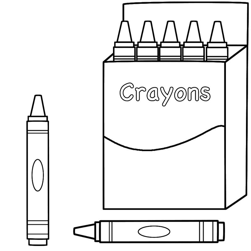 Back To School Coloring Pages Crayons 001