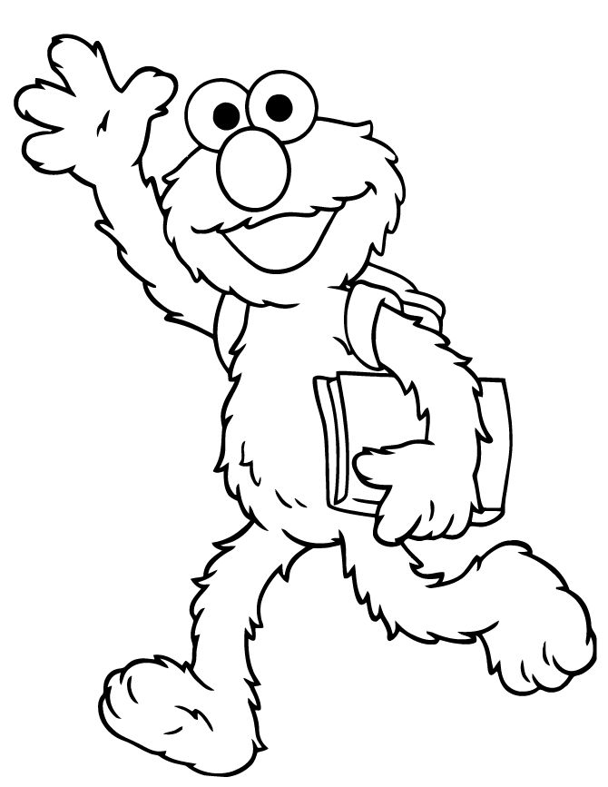 Back To School Coloring Pages Elmo 001