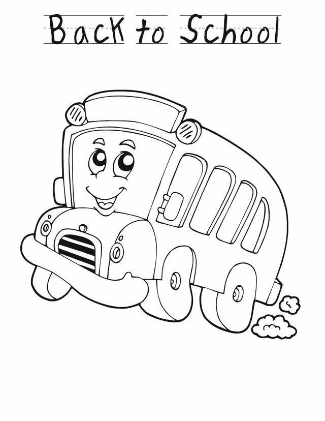 Back To School Coloring Pages School Bus 001