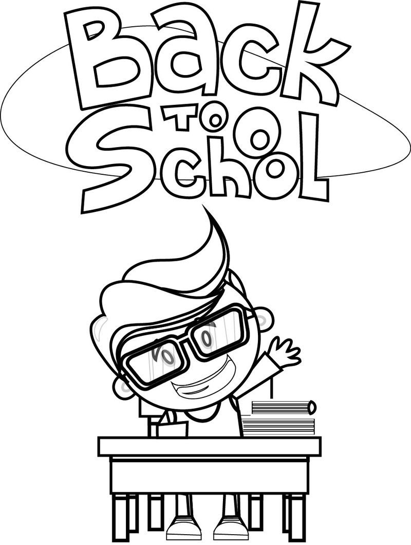 Back To School Kids Coloring Page 02