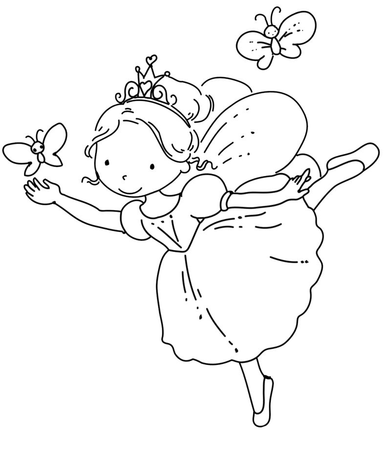 Ballet Fairy Coloring Pages