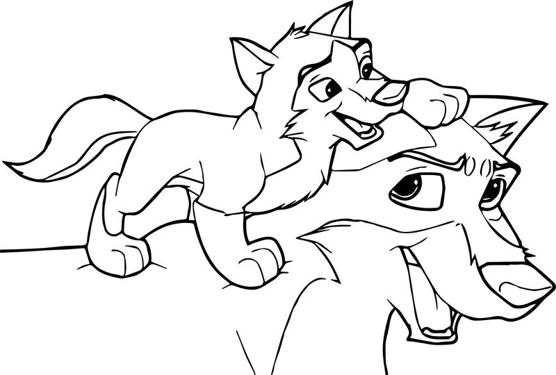 Balto Base Piggy Back Ride Wolf Coloring Page