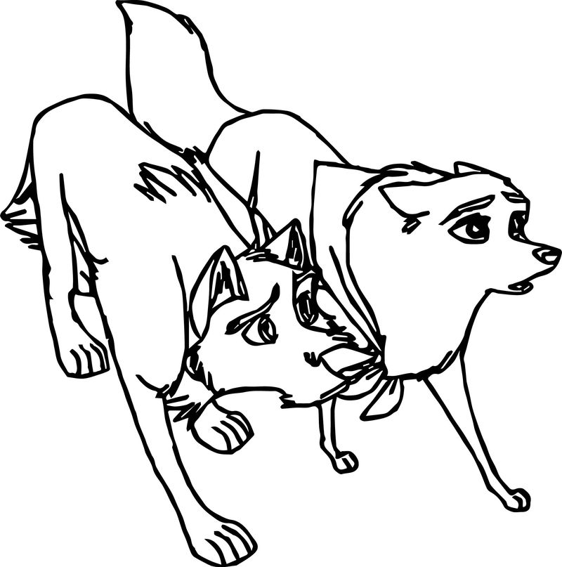 Balto Base Protection Wolf Coloring Page