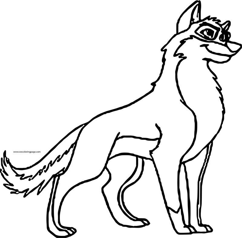 Balto Dog Coloring Page 5