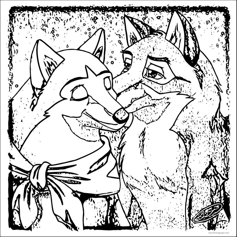 Balto Jenna Wolf Sketch Coloring Page