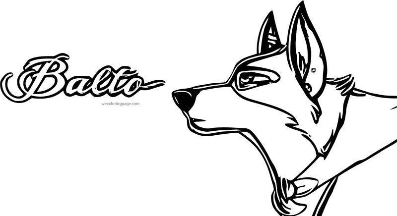 Balto Movie Wolf Coloring Page
