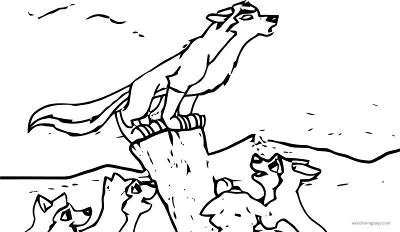 Balto Pups Base Wolf Coloring Page