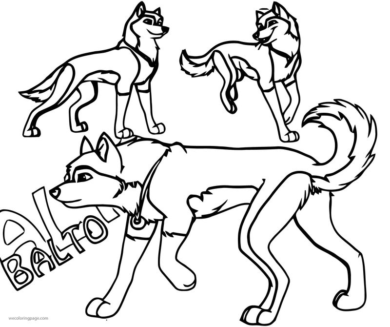 Balto Revamped Video Draw Wolf Coloring Page