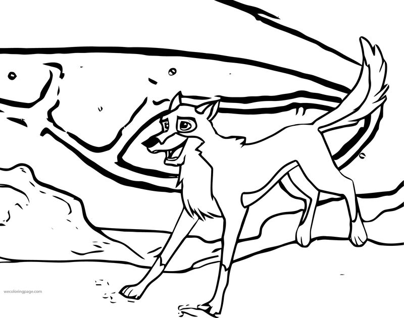 Balto Running Wolf Coloring Page