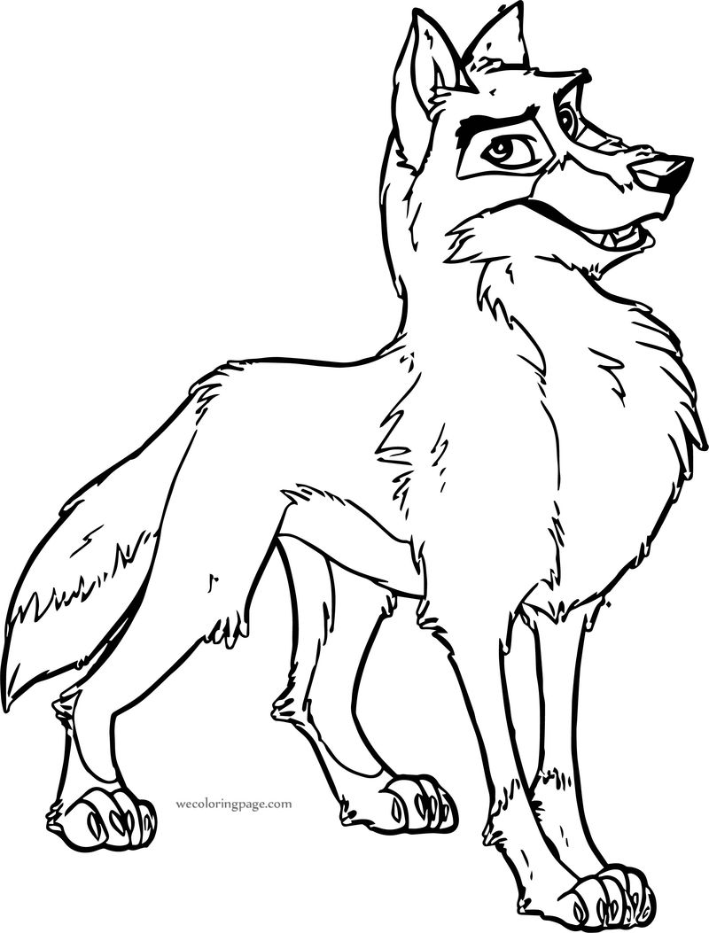 Balto Wolf Pose Coloring Page