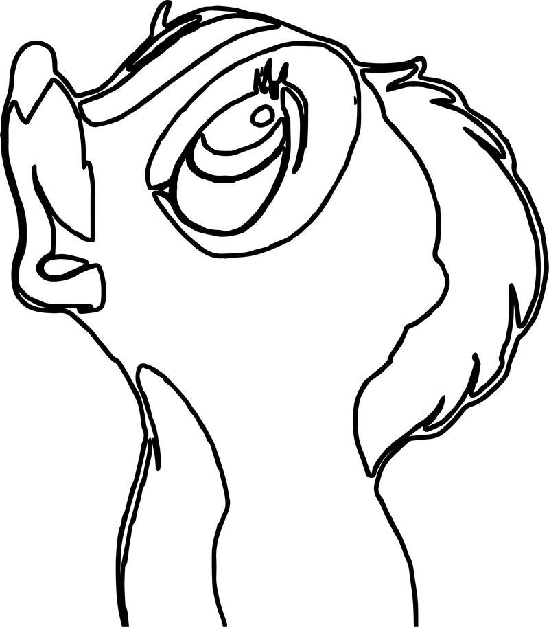 Bambi S Flower The Skunk Flower Face Coloring Pages