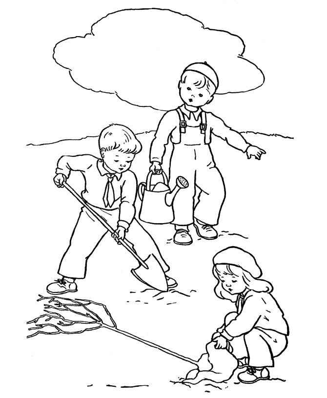 Bare Tree Coloring Page