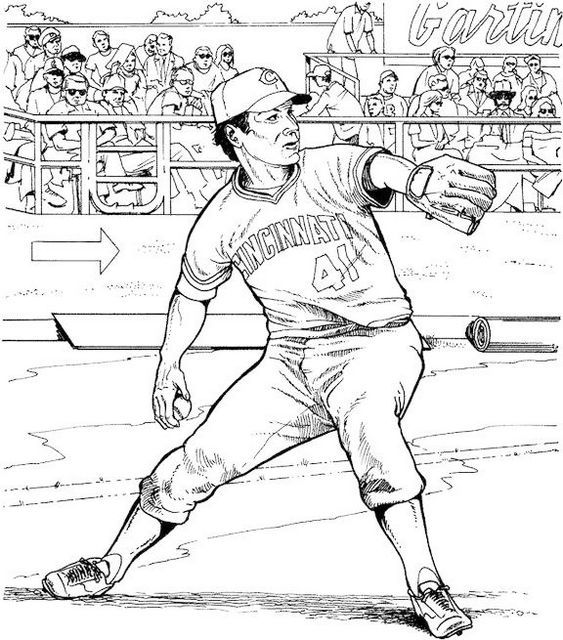 Baseball Coloring Book To Reduce Stress