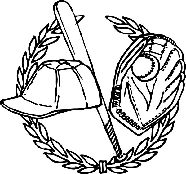 Baseball Hat Coloring Page 002