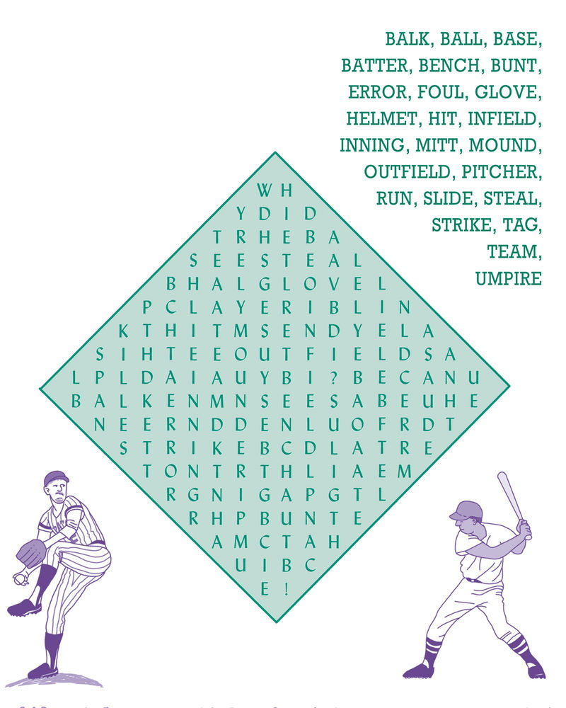 Baseball Word Search New