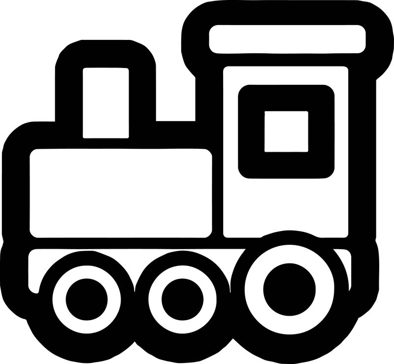 Basic Train Coloring Page