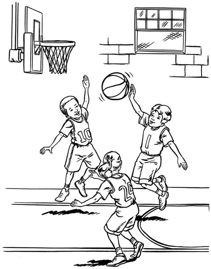 Basketball Activities For Kids Coloring