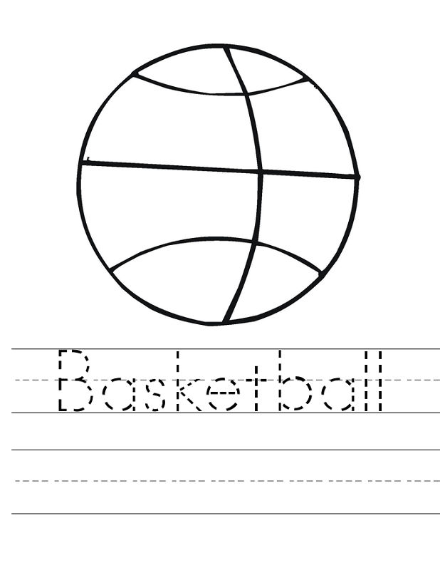 Basketball Activities For Kids Trace