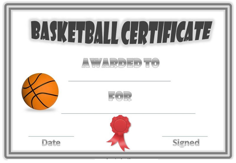 Basketball Award Certificates Template