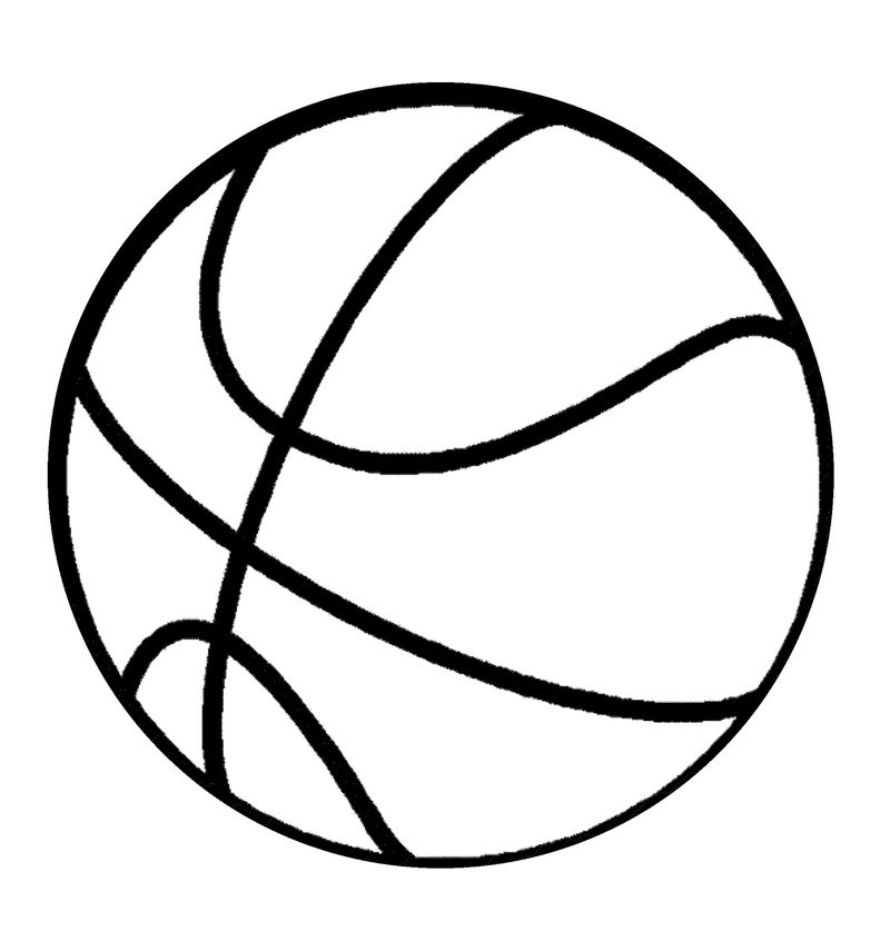 Basketball Color Pages Ball