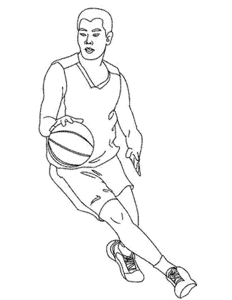 Basketball Color Pages Player