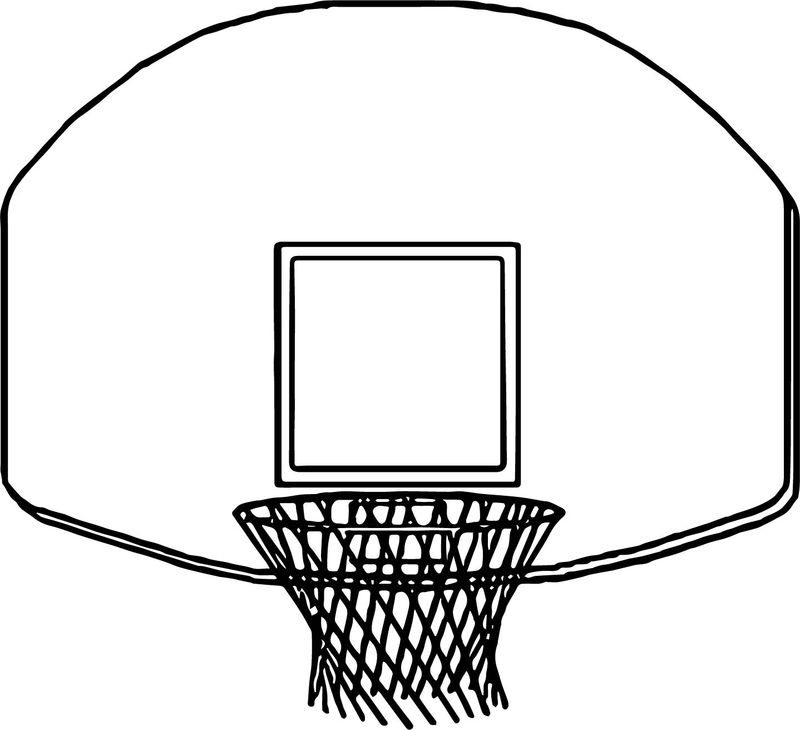 Basketball Net Coloring Page