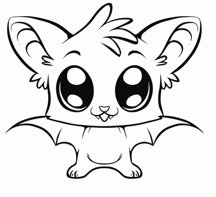Bat Animal Coloring Pages
