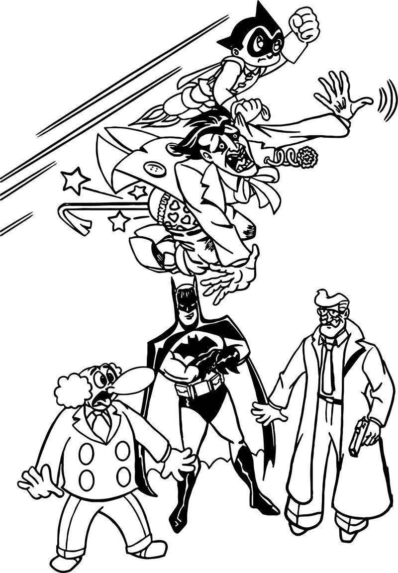 Batman dc comics fandoms astro boy coloring page