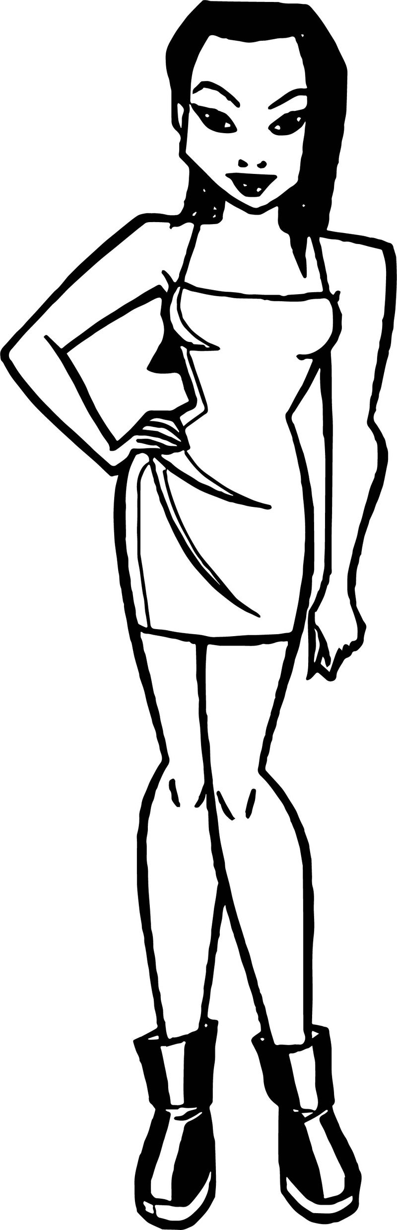 Batman Girl People Coloring Page