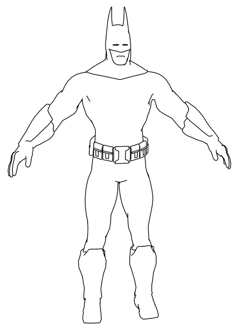 Batman Pose Coloring Page
