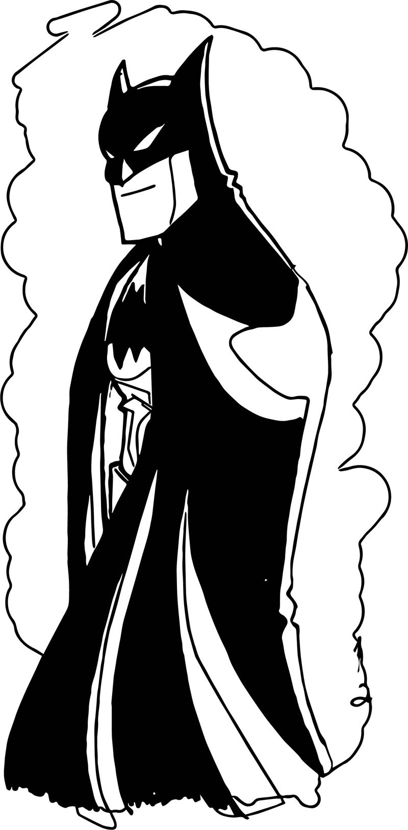 Batman The Animated Series Color Sketch Coloring Page