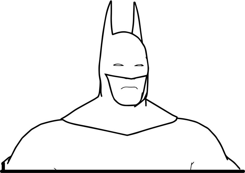 Batman Up Body Coloring Page