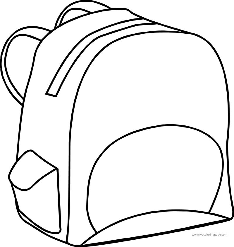 Be School Bag Coloring Page