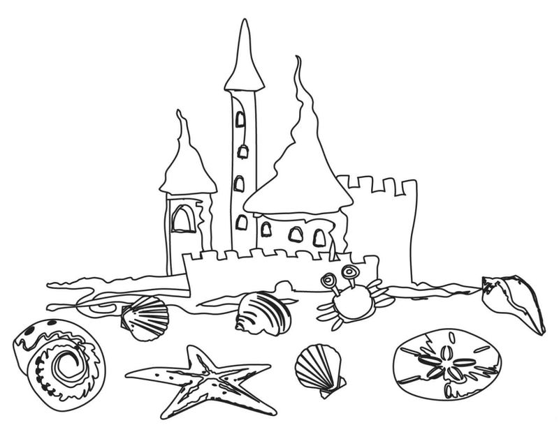 Beach Coloring Pages For Preschool 001