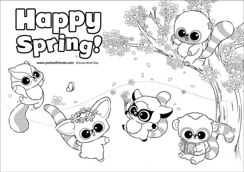 Beanie Boo Spring Coloring Pages