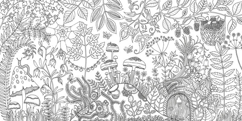 Beautiful Enchanted Forest Coloring Book