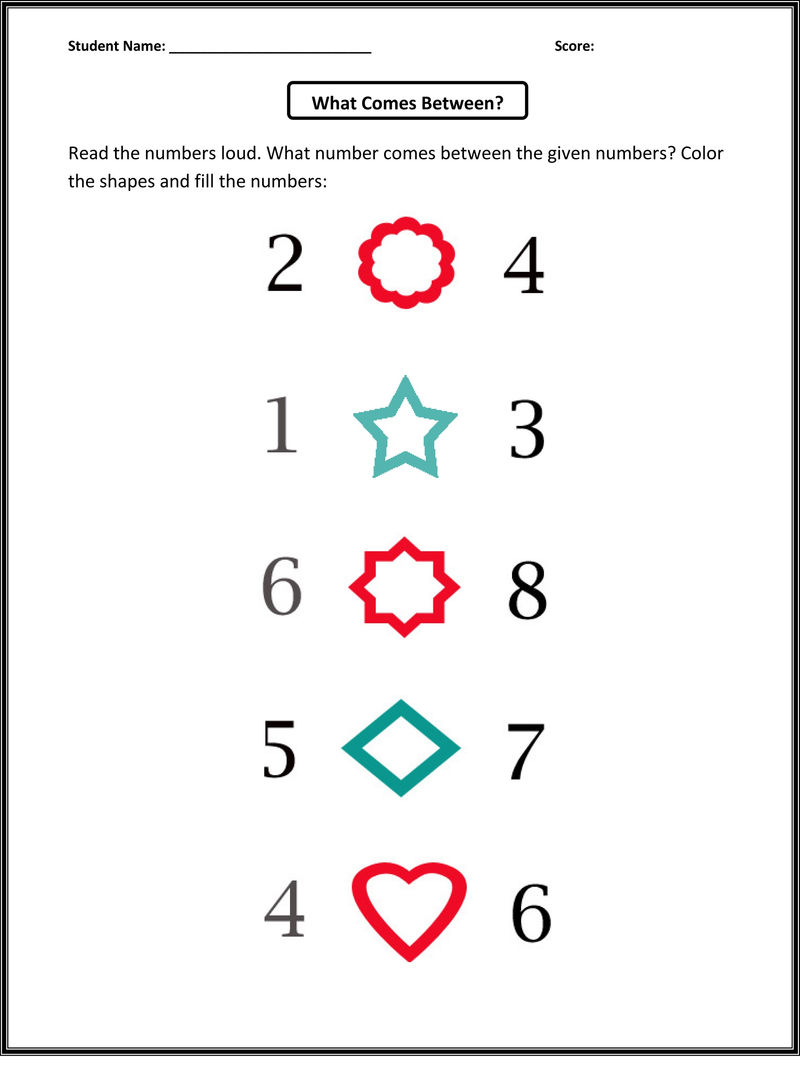 Before And After Number Worksheets Interesting