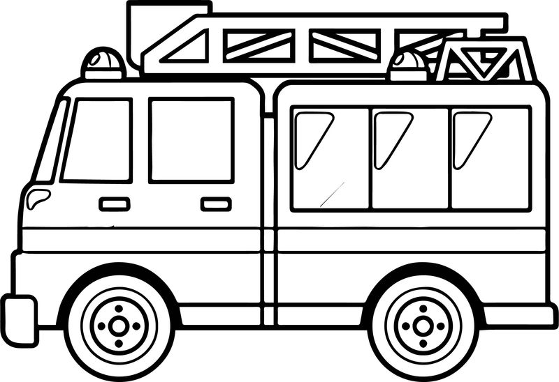 Best Fire Truck Coloring Page