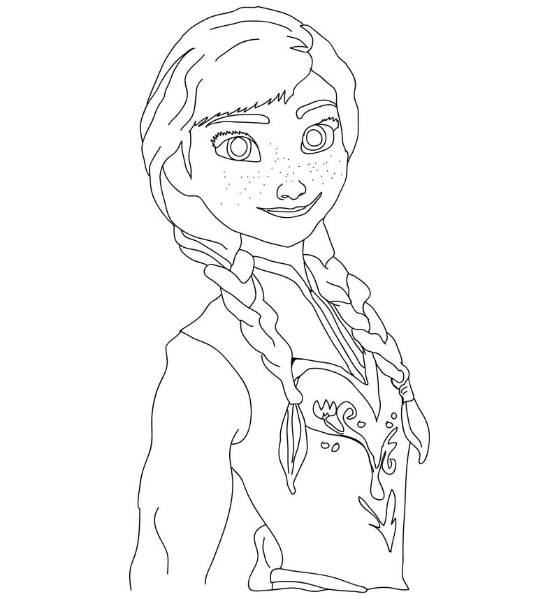 Best frozen coloring page 01