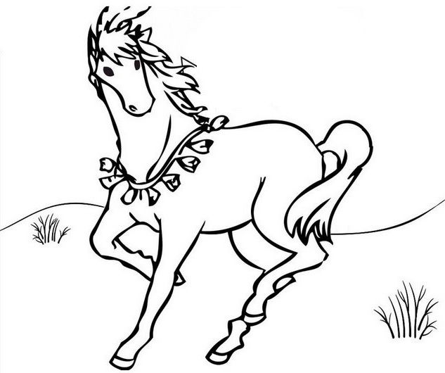 Best Horse Running Coloring Page