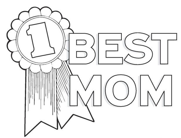 Best Mom Award Mothers Day Coloring Pages