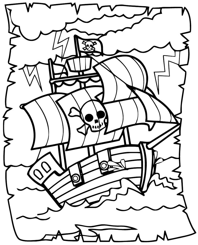 Big Boat Pirate Coloring Pictures