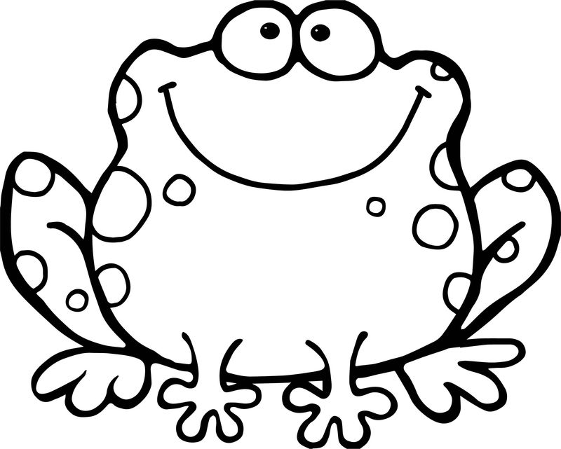 Big Fat Frog Coloring Page