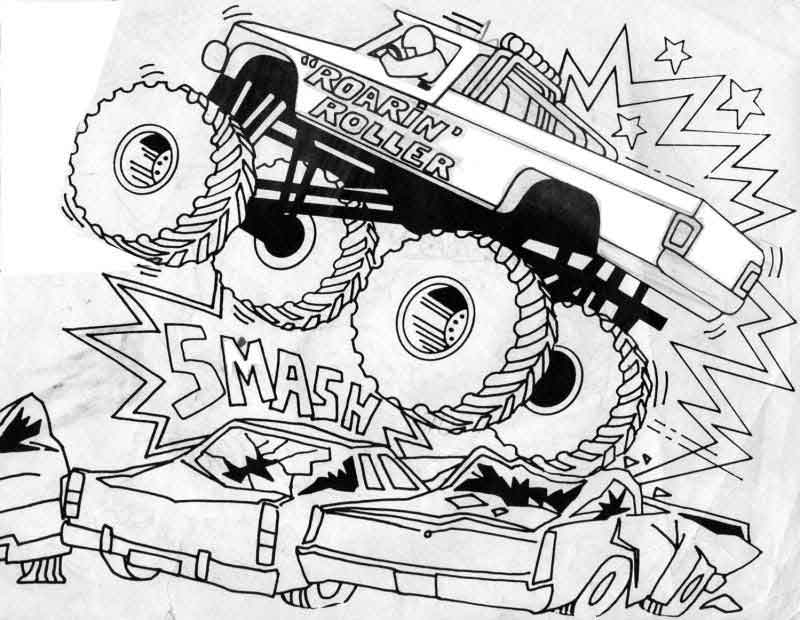 Bigfoot Monster Truck Coloring Pages